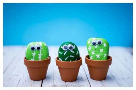 7 adorable cactus crafts for kids that will survive in any