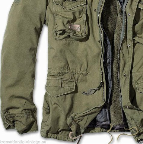 a5dfa86bb918 BRANDIT M65 GIANT MENS MILITARY PARKA US ARMY JACKET WINTER ZIP OUT LINER  OLIVE
