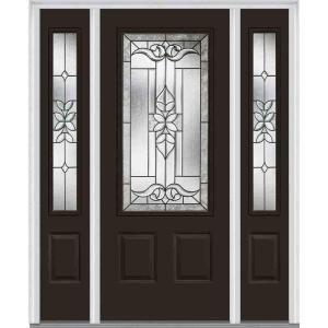 Stanley Doors 32 In X 80 In Nightingale Patina 3 4 Lite 2 Panel Painted White Right Hand Inswing Steel Prehung Front Door 1544e D 32 R P The Home Depot In 2020 Steel Doors Exterior Entry Doors
