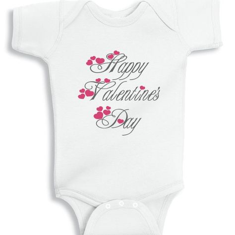 Happy Valentine's day baby onesie