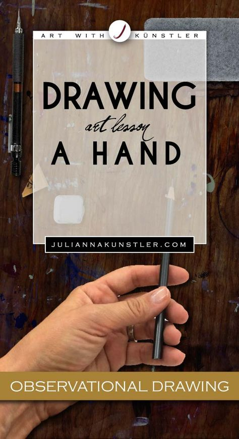 Observational drawing of a hand. Art Education Projects, High School Art Projects, Middle School Art, Art School, Drawing Lessons, Art Lessons, High School Drawing, Art Handouts, Smash Book Pages