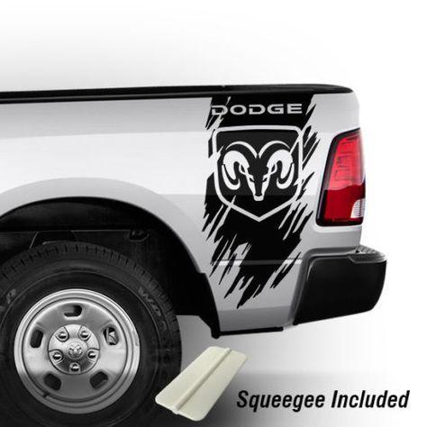 Dodge Ram 1500 2500 3500 Truck Bed Stripes Vinyl Decals Punisher Hemi 4x4 b