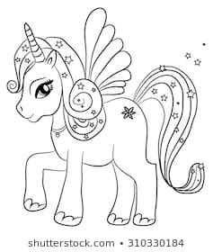 Unicorn Color Images Stock Photos Vectors Shutterstock Unicorn Images To Color Unicorn Colo Animal Coloring Pages Fairy Coloring Pages Unicorn Coloring Pages