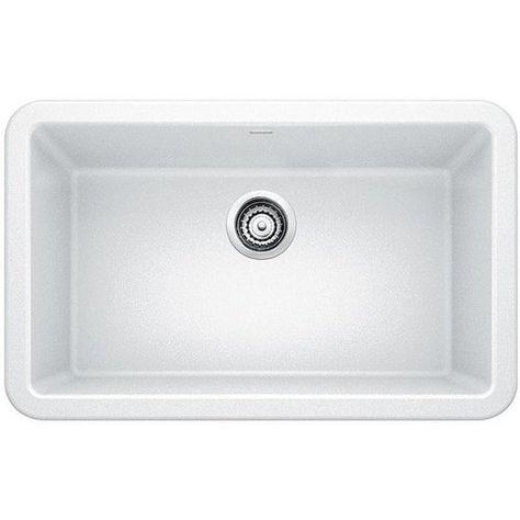 Blanco 30 Inch Ikon Single Bowl Kitchen Apron Sink White 401734