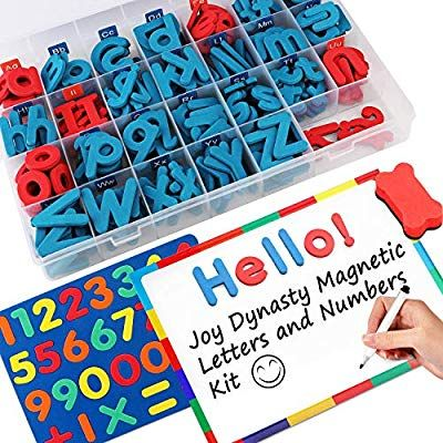 Amazon Com 237 Pcs Magnetic Letters And Numbers With Magnetic Board And Storage Box Uppercase Lowercase Foa Letters And Numbers Magnetic Letters Joy Letters