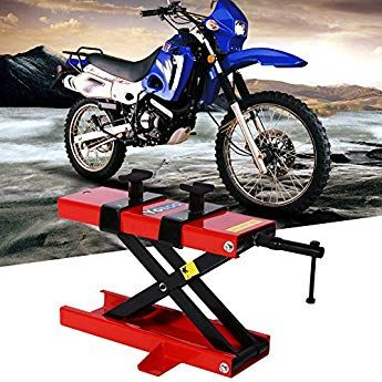 GOTOTOP Motorcycle Lift Jack Adjustable Lift Stand Repairing Table for Adventure Touring Motorcycle Street Bike