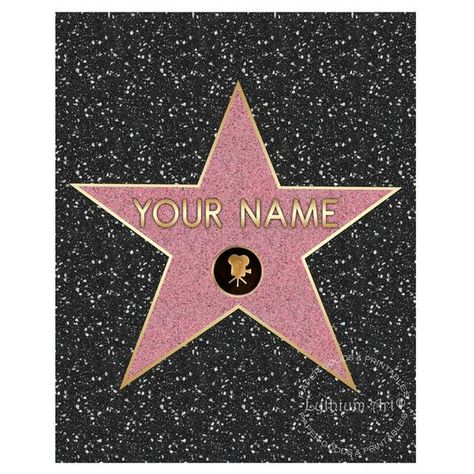 93fe927e18 WALK OF FAME Star, Walk of Fame Poster, Hollywood Party, Movie Night Party