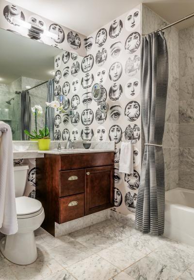 Piero Fornasetti Wallpaper In Symphony House By Meadowbank Designs - Piero fornasetti wallpaper designs