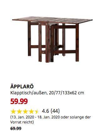Ikea Chemnitz Applaro Klapptisch Aussen Braun Las Braun 20 77