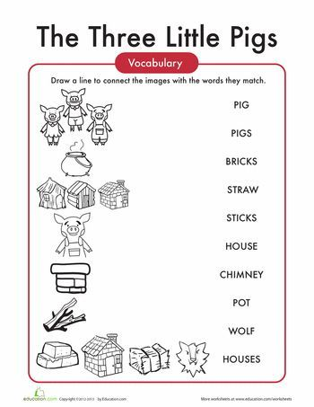 The Three Little Pigs Words Worksheet Education Com Three Little Pigs Little Pigs Worksheets For Kids Three little pigs worksheets