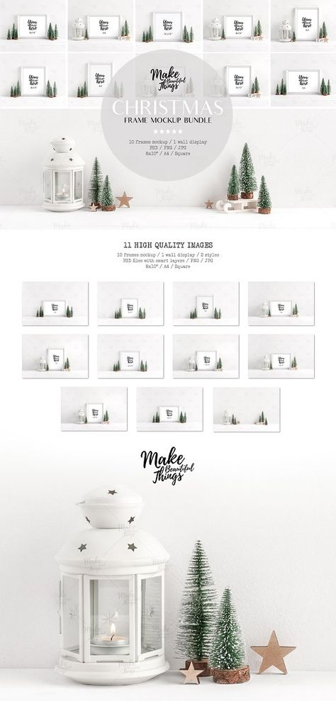 Bundle / Christmas frame mockups by Make Beautiful Things on @creativemarket