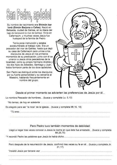 San Pedro Y San Pablo Catequesis Catequesis San Pedro Apostol Temas De Catequesis