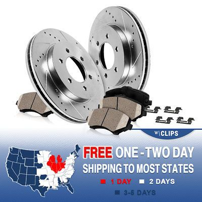 262mm Front Kit Drill Slot Brake Rotors /& Ceramic Pads For 03-05 Civic Hybrid