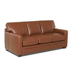 Jennifer Genuine Leather 81 Rolled Arm Sofa Bed Leather Sleeper Sofa Leather Sofa Bed Custom Upholstery