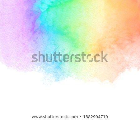 Rainbow Color Watercolor Vector Hand Drawn Aqua Liquid Abstract
