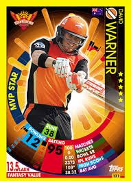 Image Result For 2018 Cricket Attax Card With Images Cards Cricket David Warner
