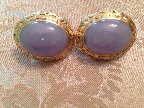 Mings Custom Large Lavender Earrings