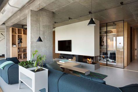 Die schönheit der minimalistischen penthouse design die sie