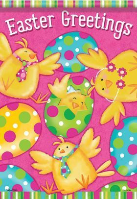 Easter Greetings Hang A Cheerful Easter Garden Flag This Year To