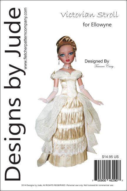 Rockabilly Pencil Dress Doll Clothes Sewing Pattern for Ellowyne Dolls Tonner
