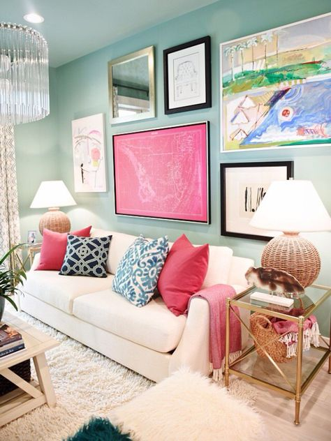 Contemporary Turquoise And Grey Living Room Inspiration - Living ...