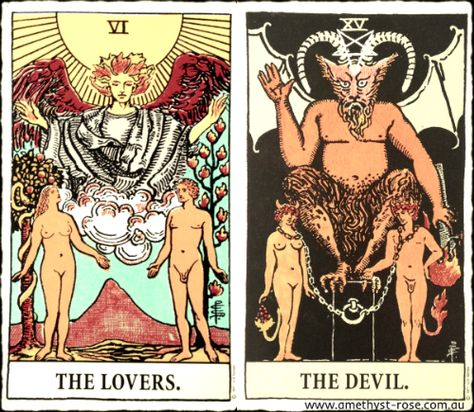 26/7/16 #TarotNumerology #Tarot #TheDevil #TheLovers #EnergyOfTheDay #InsightsFromTheTarot #WisdomOfTheTarot #ARNAPSreadings Endings and new beginnings for relationships today. A new beginning doesn't necessarily mean that you leave your current partner for another, it could mean that a new stage is reached within your current relationship.  Vanda xx