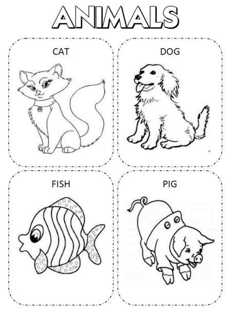 30 Desenhos Para Colorir Em Ingles Aprenda Brincando Atividades