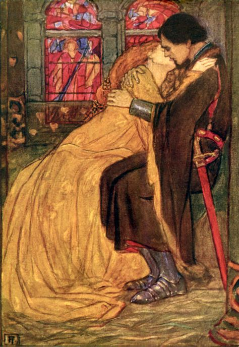 It was their last hour - Emma Florence Harrison, illustration to Guinevere by Tennyson