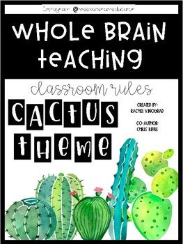 CACTUS THEME - Whole Brain Teaching Rules Posters - Includes