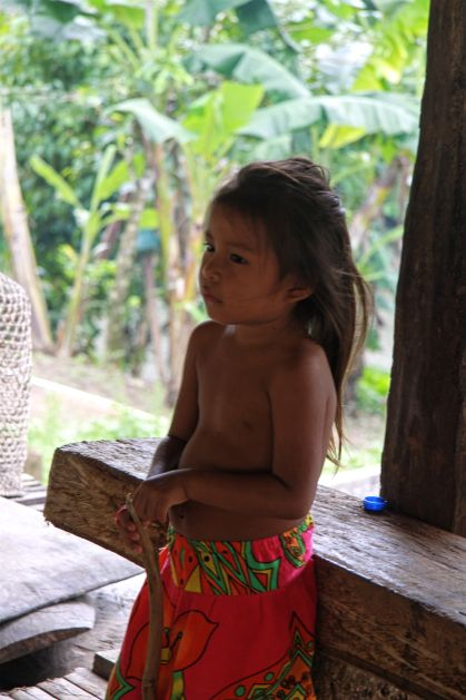 Fillette embera / embera girl | parc national de Chagres, Panama