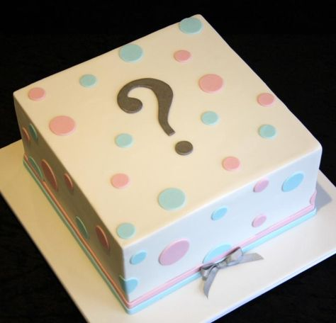 gender reveal cakes | Marty & Verity Gender Reveal Cake...Could make the polka dots a different color if we wanted to.