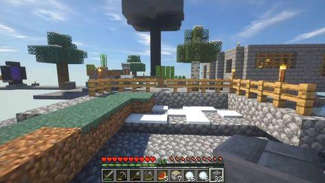 Extraños Enemigos Nocturnos Y El Lago De Pesca Minecraft Skyblock 7 Enemigos Minecraft Lago