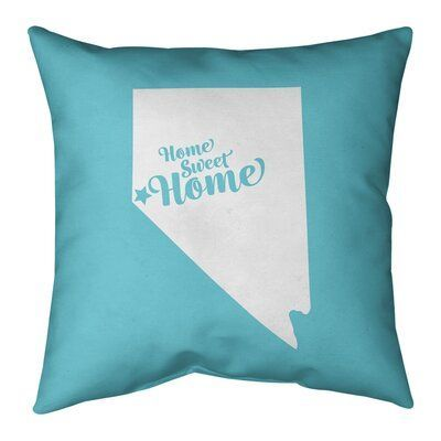 Teal Home Accents East Urban Home Home Sweet Indoor Outdoor Throw Pillow Color Teal City Carson Size 2 In 2020 Throw Pillows East Urban Home Outdoor Throw Pillows