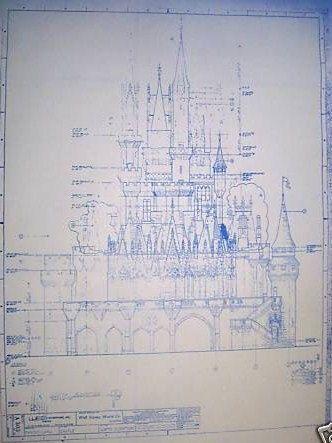Walt disney world castle north elevation blueprint disney walt disney world castle north elevation blueprint disney pinterest malvernweather Images