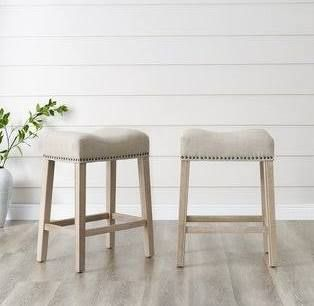 Farmhouse Bar Stools Set Of 2 Counter Stools Backless Counter Stools Furniture