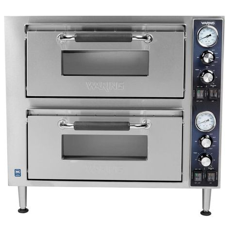 Waring Wpo750 Double Deck Countertop Electric Pizza Oven With 2