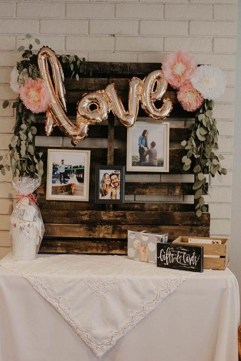 Beautiful Bridal Shower D cor Ideas Lindsey Wagner Bridal Shower Gifts For Bride, Bridal Shower Backdrop, Wedding Shower Decorations, Bridal Shower Tables, Bridal Shower Centerpieces, Bridal Shower Party, Bridal Table Decorations, Bridal Shower Prizes, Bridal Shower Balloons