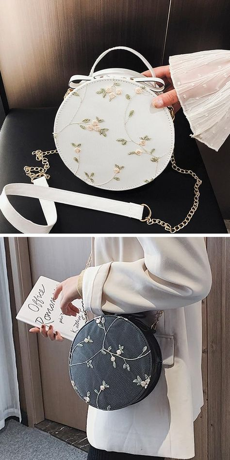 4EED Round Handbag Accessories Female Sturdy Shoulder Bag