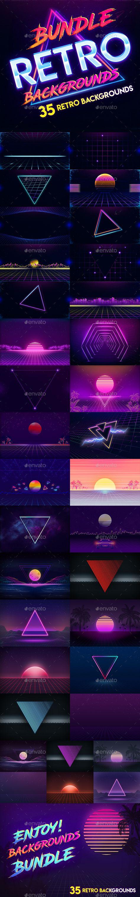 Bundle - 80s Retro Backgrounds