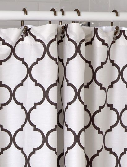 Lovely Max Studio Home Moroccan Tile Cotton Blend Shower Curtain   Navy .