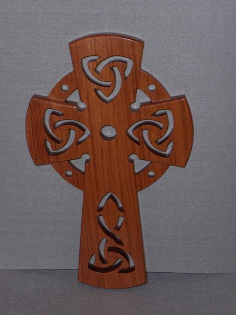 Wooden Cross with Celtic Motif by rawild on Etsy