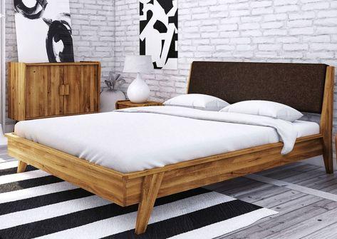 Bett Wildeiche 140x200 Braun Natur Geolt Original Retro 21 In 2020 Bett 180x200 Eichenbetten Und Bett