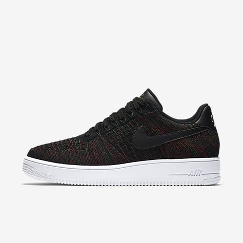 Chaussure Nike Air Force 1 Pas Cher Homme Flyknit Low Noir