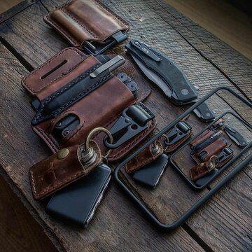PU Leather Belt Loop Waist Multitool Sheath Waist Storage Multi Tools Organizer