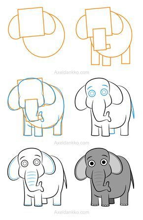 How To Draw An Elephant Comment Dessiner Un Elephant Elephant Drawing Art Drawings For Kids Cute Easy Drawings