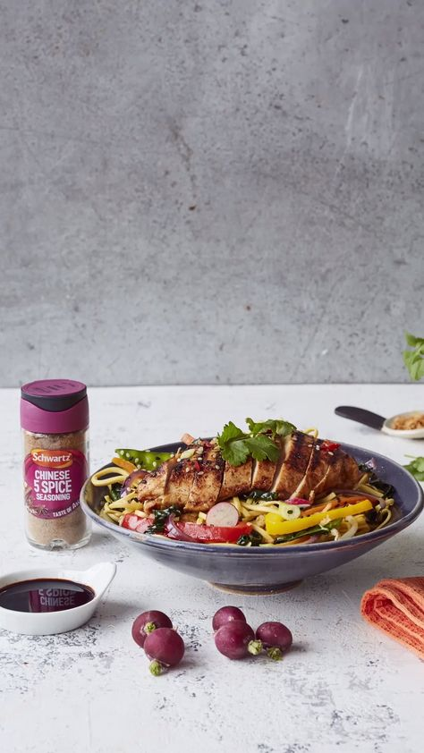 A quick and easy stir fry recipe that is great for a last minute meal. Combine veggies with noodles and our Chinese seasoned chicken for a dish that's ready in under 30 minutes!