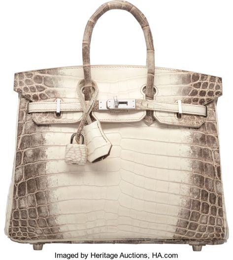 34e1751cf861 Hermes 25cm Matte White Himalayan Nilo Crocodile Birkin Bag withPalladium  Hardware. X