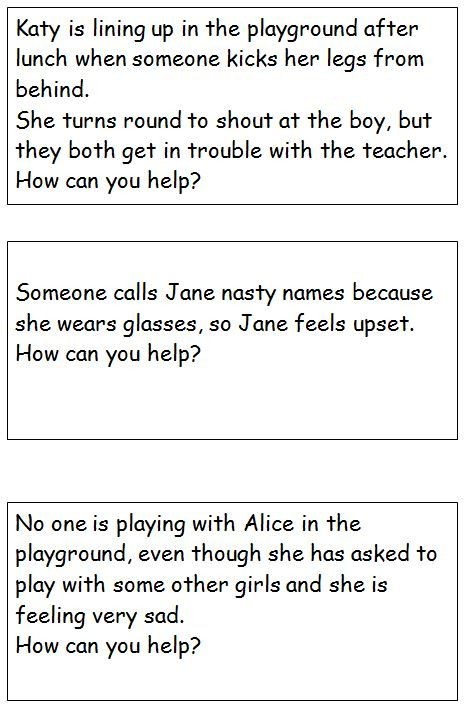 Bullying Role Play Cards Bullying Lessons Role Play Scenarios Bullying Activities