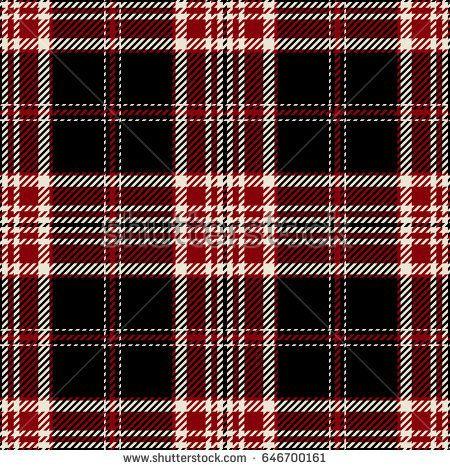 Tartan Seamless Pattern Background Red Black And White Plaid Tartan Flannel Shirt Patterns Trendy Tiles Vector Illustr Background Patterns Pattern Tartan
