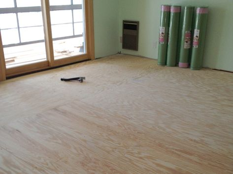Plywood Suloor Faux Wood Flooring, How To Prepare Floor For Laminate Flooring